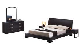 King Bedroom Furniture Sets on Black Oak King Queen Platform Bedroom Furniture Set