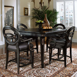 Black Rub Through Gold Tipped Finish Pub Table and Pub Chairs & chairs - Betterimprovement.com - Part 80