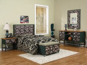 camouflage youth bedroom twin or full bedroom set
