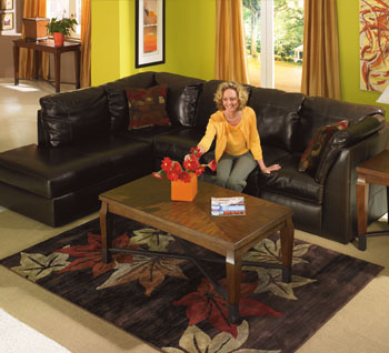 Central Park - Chocolate Sectional Sofa : sectional sofas central - Sectionals, Sofas & Couches
