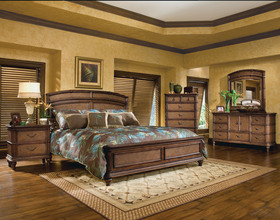 Tropical Bedroom Furniture Sets Cool Brown Queen King Panel Bedroom Furniture Set