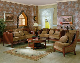 formal living room sets on Old Country Style Sofa Love Seat Formal Living Room Set