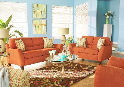 Silhouette Paprika 7 Pc Livingroom