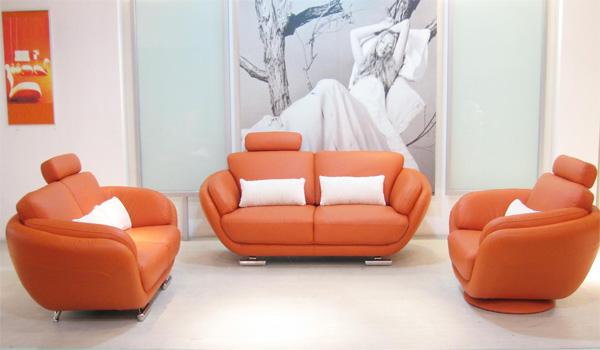 2390 modern orange leather sofa setsofas betterimprovement com part 101. Interior Design Ideas. Home Design Ideas