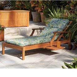 Acacia wood chaise lounge for Acacia wood chaise lounge