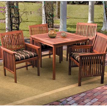 Acacia Wood Square Table Outdoor Patio Set