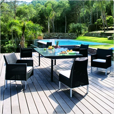 Biarritz Outdoor Dining Set 7 Piece