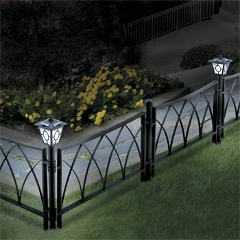 Superbe Border Fence With Lamps 6u2032