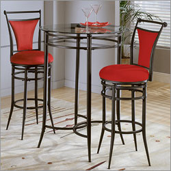 Nice Cierra Bistro Set   Flame Chairs