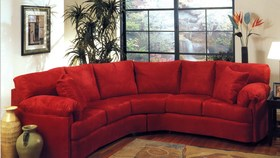 Bon Comfortable Ruby Red Sectional Sofa Living Room Couch