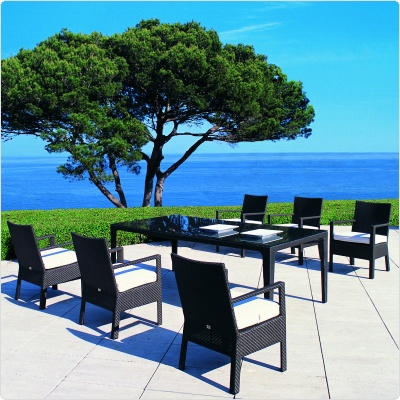 Commercial Outdoor Dining Furniture on Delta Outdoor Dining Set 7 Piece