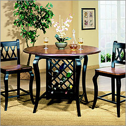 Entree BCH Counter Height Pub Set   Black U0026 Cherry Counter Height Pub Set