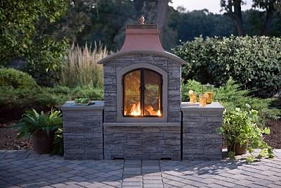 Garden Oasis LP Gas Copper Top Fireplace