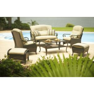 hampton bay kampar 6 pc woven deep seating set hampton bay kampar 6 pc