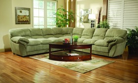 Overstuffed Pillow Top Microfiber Sectional Sofa Couch