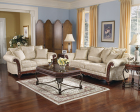 Traditional Elegant Sofa Love Seat Sets
