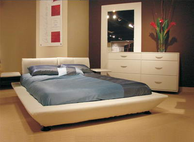 Leather Bedroom Set. Golden Italian Top Leather Bedroom With ...