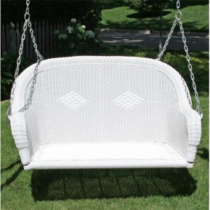 diamond wicker porch swing with hardware - Wicker Porch Swing