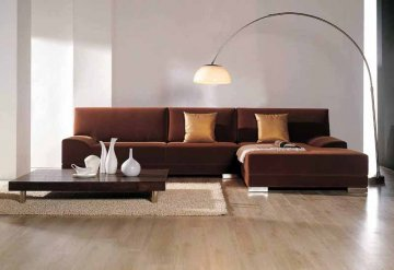 Kelsey Microfiber Sectional Sofa by True Contemporary