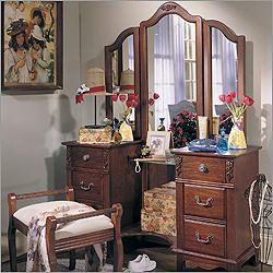 Lea – Antique Treasures Six Drawer Bedroom Vanity Set ...