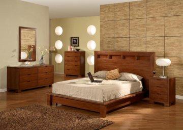 Beds Betterimprovementcom Part - Light walnut bedroom furniture
