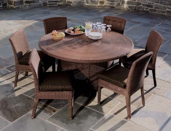 Outdoor Dining Set With Round