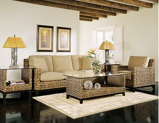 modern furniture palm springs on The Palm Springs Rattan Living Room Set A Very Modern And Contemporary