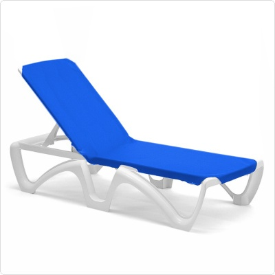 White for Blue sling chaise lounge