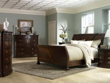Retrospect Sleigh Bedroom Furniture Set By Fairmont Designs