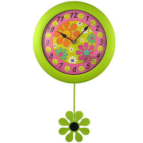 Flower Power And Smiley Face Clock Betterimprovementcom
