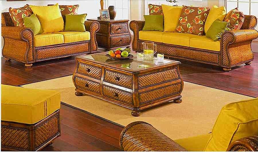 Rattan living room chairs