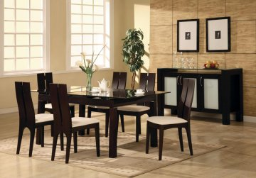 Dining Room on Aliza Glass Dining Room Furniture Set
