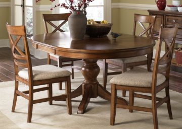 Barrington Oval Pedestal Dining Room Furniture Set