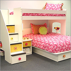 Utica Loft Twin Over Full Bedroom Set