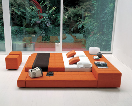 this gorgeous modern orange bedroom set is a great bedroom furniture