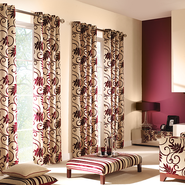 Home Design Elegant Living Room Curtain