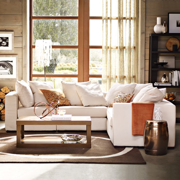 Elegant White Sectional Sofa : walton sectional - Sectionals, Sofas & Couches