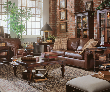 brockett n gabriello lr leather sets rm brown furniture chestnut living pc rooms livings suites room