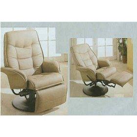 Leatherette Cushion Swivel Recliner Lounge Chair Chair