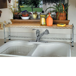 kitchen sink shelves
