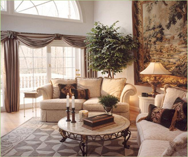old world living room