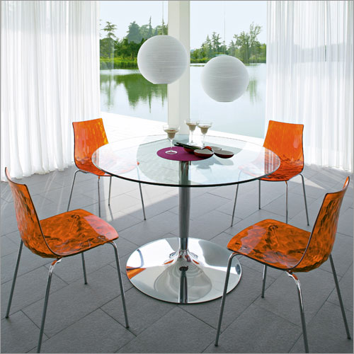 Planet Table with Ice Chairs