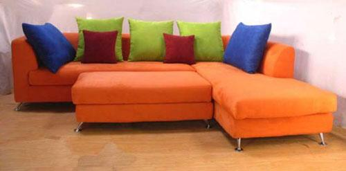 Delicieux Orange Sectional Sofa