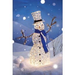 White Grapevine Snowman Decorations