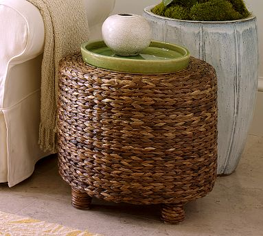 Amazing Seagrass Accent Table Seagrass Accent Table