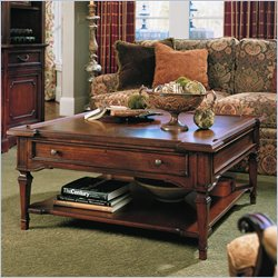 villa antica square cherry coffee table and end table set