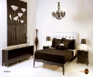 modern black lacquer bedroom set