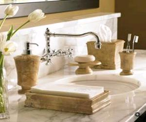 Hand Carved Marble Bath Accessories