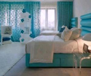 Aqua Blue Bedroom