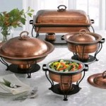 Copper-finish Chafing Dishes